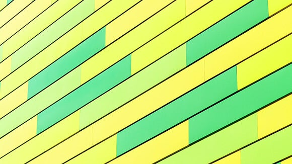 green and yellow abstract glass
